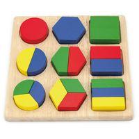 Układanka Drewniana Wzory Geometryczne Viga Toy
