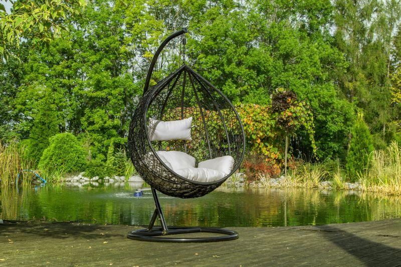 Fotel Wiszący Lido Poduszki Kosz Huśtawka Rattan zdjęcie 3