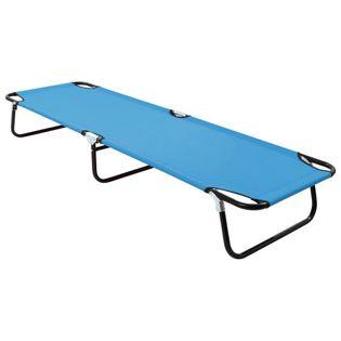 Lumarko Składany leżak, stal, turkusowo-niebieski