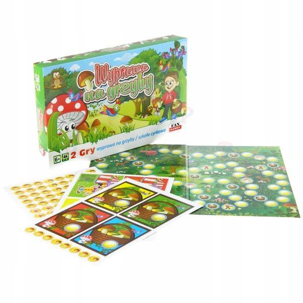 Wyprawa na grzyby 2 gry planszowe dla dzieci nowa! zdjęcie 3