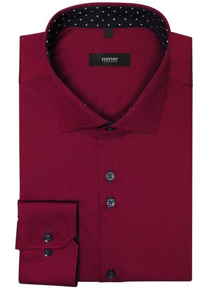 Bordowa koszula męska Rozmiar koszuli i fason Wybierz