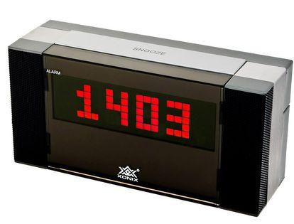 XONIX 930 Kompaktowy budzik z regulacją głośności, termometr, zasilany sieciowo, 2 x tryby alarmu