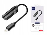 ROCK ADAPTER LIGHTNING 3.5MM Z ZASILANIEM IPHONE