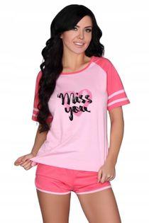 Piżama różowa bawełna Ejiroma L/XL