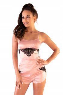 Satynowa piżama Miraaze L/XL spodenki koronka