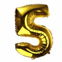 BALON foliowy 5 CYFRA 0-9 złota ogromna 100cm urodziny