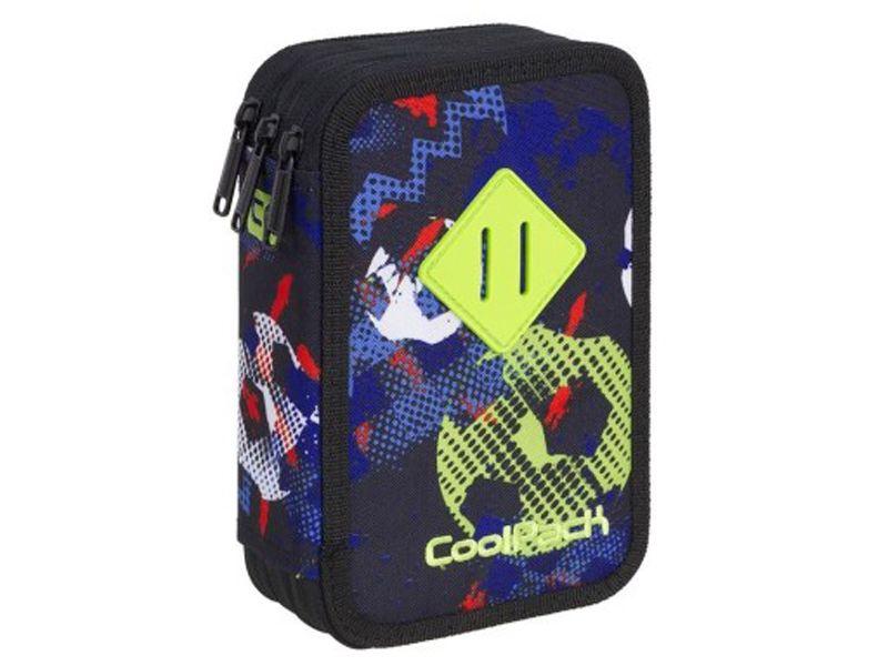 Potrójny piórnik szkolny Coolpack Jumper 3 z wyposażeniem, FOOTBALL A436 zdjęcie 1