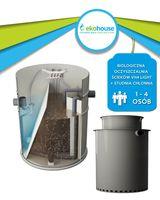 Przydomowa oczyszczalnia ścieków 1-4 osób + studnia chłonna 550l