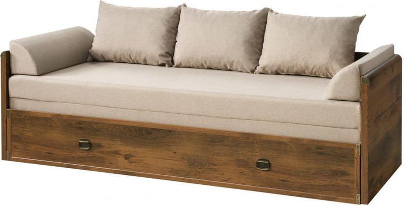 łóżko Rozkładane Indiana 80x200cm Black Red White