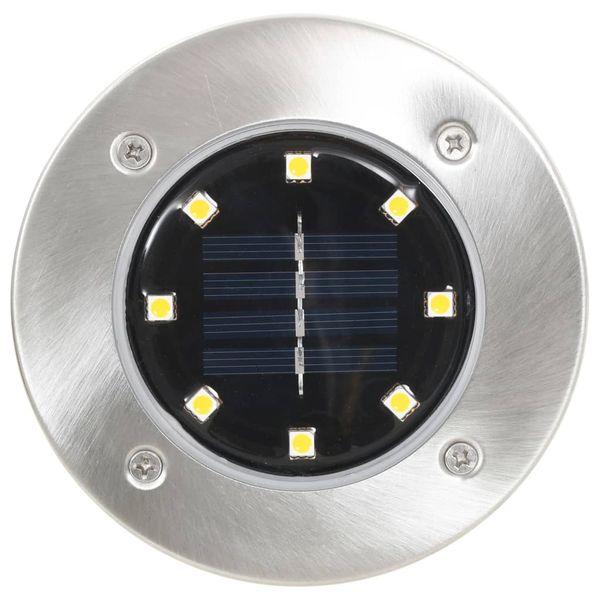 Solarne lampy gruntowe, 8 szt., ciepłe białe LED zdjęcie 3