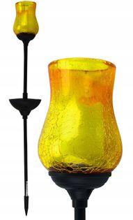 Lampa solarna Kielich żółty