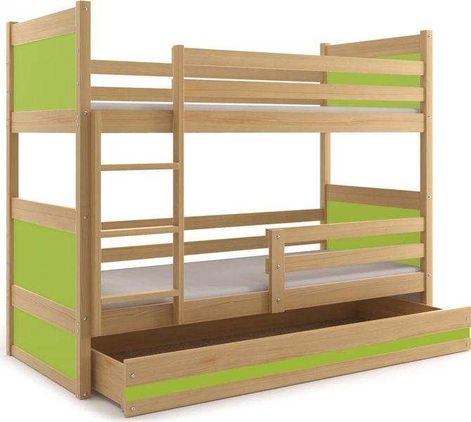 łóżko Dla Dzieci Meble Piętrowe Drewniane 160x80 Rico Barierka