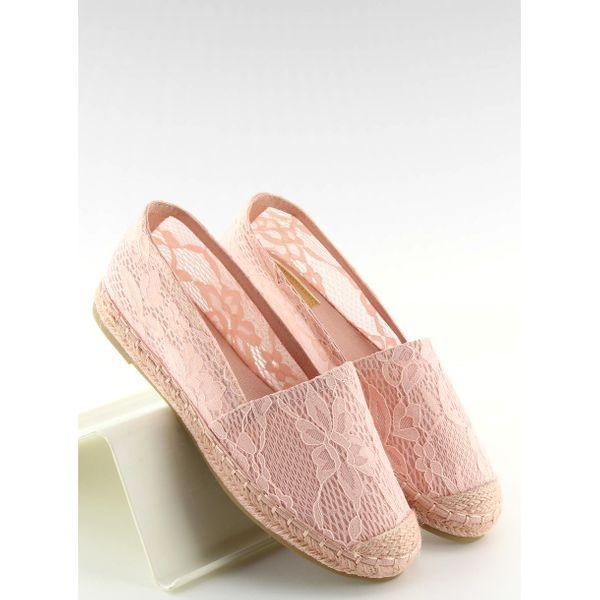 Espadryle koronkowe różowe BB15P Pink r.36 zdjęcie 6