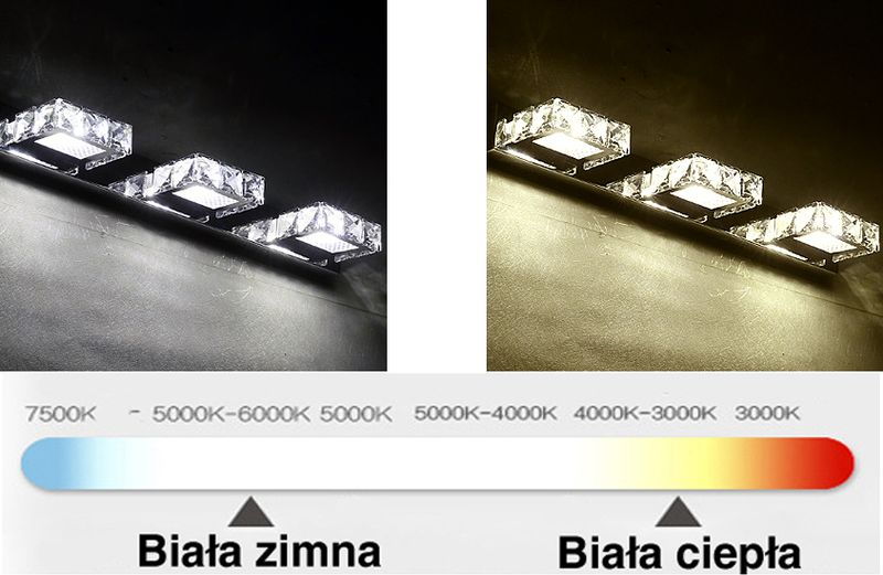 Lampa nad lustro Kinkiet łazienkowy LED 62 cm 16W 5980-16W na Arena.pl