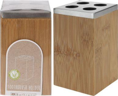 Lumarko kubek na szczoteczki 6,5x6,5xh12cm bambusowy