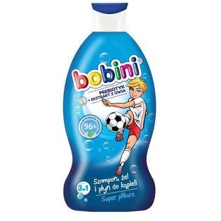 Bobini Szampon, żel pod prysznic i płyn do kąpieli Super Piłkarz 330ml,