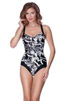 Kostium kąpielowy EMMA Rozmiar - Stroje damskie - 36(S), Kolor - Stroje damskie - Emma - 01 - czarny / biały