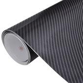 Naklejka samochodowa winyl/carbon 4D czarna 152 x 200 cm zdjęcie 1