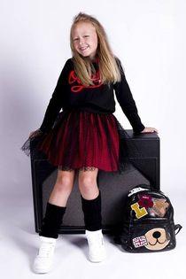 Dziewczęca Tunika z Kapturem MałaMi 2w1 w Kropki napisem OOPS w kolorach Gucci 146/152