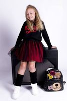 Dziewczęca Tunika z Kapturem MałaMi 2w1 w Kropki napisem OOPS w kolorach Gucci 122/128
