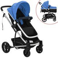 Wózek 2w1 spacerówka gondola niebieski VidaXL