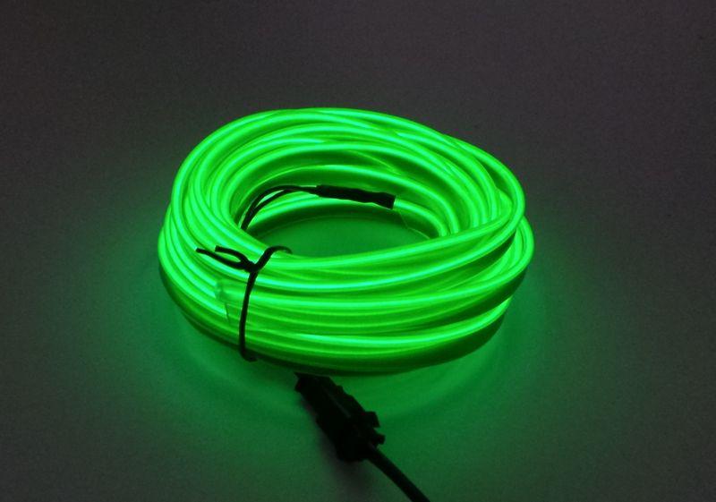 Światłowód EL WIRE Ambient Taśma LED 5m zielony zdjęcie 1