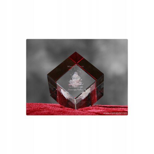 Grawerwany kryształ-sześcian, prezent na święta zdjęcie 1