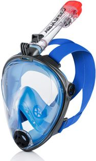 Maska do nurkowania pełnotwarzowa SPECTRA 2.0 Rozmiar - Maski - L/XL, Kolor - Spectra 2.0 - 01 - szary / niebieski