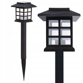 Lampa solarna LED ogrodowa wbijana Lampion Czarna