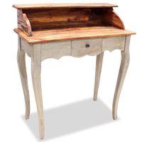 Biurko, lite drewno z odzysku, 80 x 40 x 92 cm