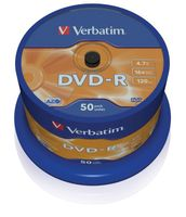 DVD-R Verbatim 16x 4.7GB (Cake 50) MATT SILVER