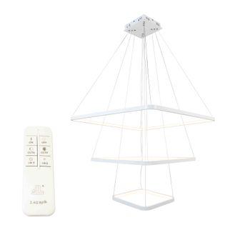 Lampa wisząca LED Wobako Fabio III żyrandol kwadrat LED 30+50+70cm