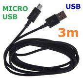 Kabel microUSB ładowanie transfer Micro USB 3m zdjęcie 4