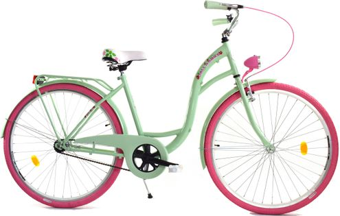 "Dallas Bike City 28"" 1spd - mięta z różem"