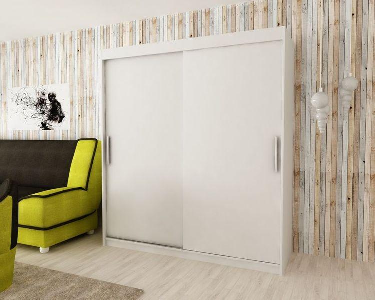 Szafa garderoba przesuwna biała DARO 200 RIBES zdjęcie 2