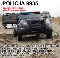 MEGA POLICJA Z MEGAFONEM I RADIEM, MIĘKKIE KOŁA/9935