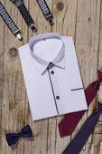 Biała koszula chłopięca, krótki rękaw 104 zdjęcie 3