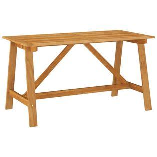 Lumarko Stół jadalniany do ogrodu, 140x70x73,5 cm, lite drewno akacjowe