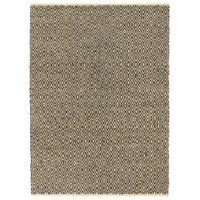 Ręcznie tkany dywan Chindi, skóra i bawełna, 190x280 cm, czarny