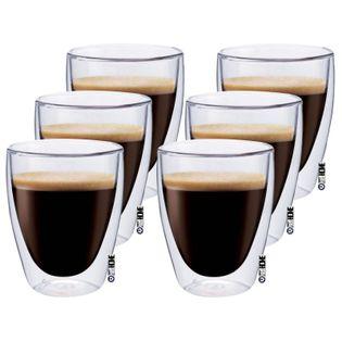 Szklanki z Podwójną Ścianką do Kawy Herbaty Maxxo 6 sztuk