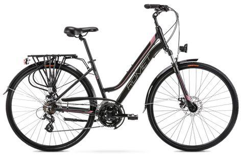 """Rower Romet Gazela 2 M (17"""") Czarno- różowy"""