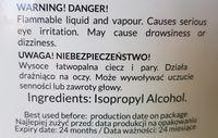 Cleaner Alkohol Izopropylowy Izopropyl Dezynfekcji Odtłuszczani 1L 87%
