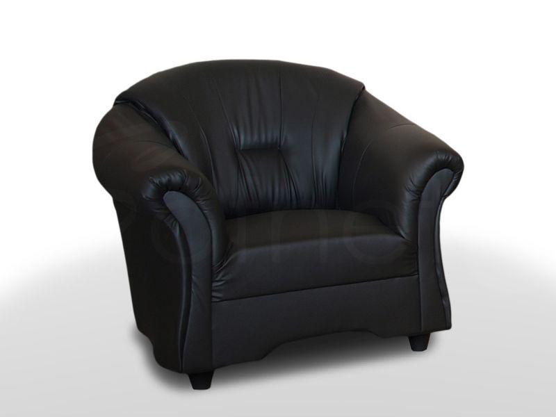 Wygodny Fotel Alex do salonu w ekoskórze - Różne kolory zdjęcie 4