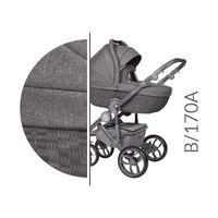 Baby Merc Bebello wózek dziecięcy wielofunkcyjny 3w1 grafitowy