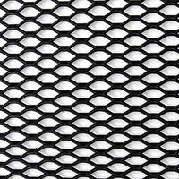 Siatka zderzaka aluminiowa  Kamei 12 x 4 mm Czarna