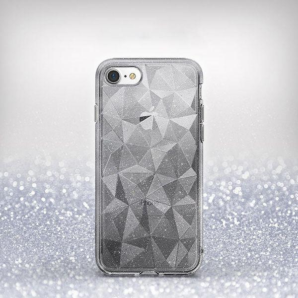 Ringke Air Prism Glitter błyszczące żelowe etui pokrowiec 3D iPhone 8 / 7 szary (APAP0010-RPKG) zdjęcie 2