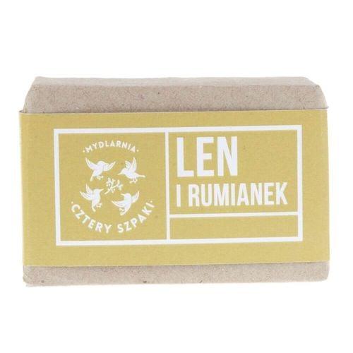 Mydło naturalne Len i Rumianek 110 g - Cztery Szpaki na Arena.pl