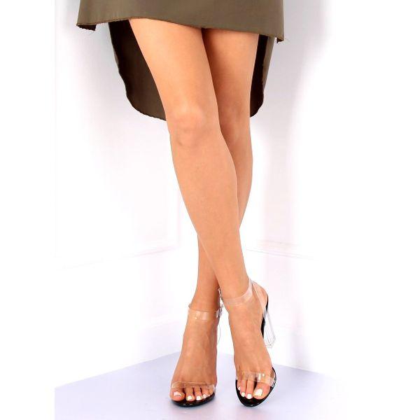 Sandałki transparentne 17-26B Black r.38 zdjęcie 3