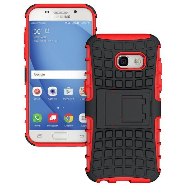 Pancerne etui Kickstand Samsung Galaxy A3 2017 A320 czerwone zdjęcie 1