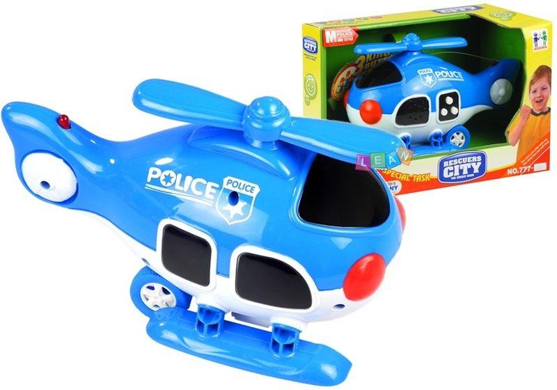 Helikopter POLICYJNY Samolot Efekty Dźwięk Światło zdjęcie 1
